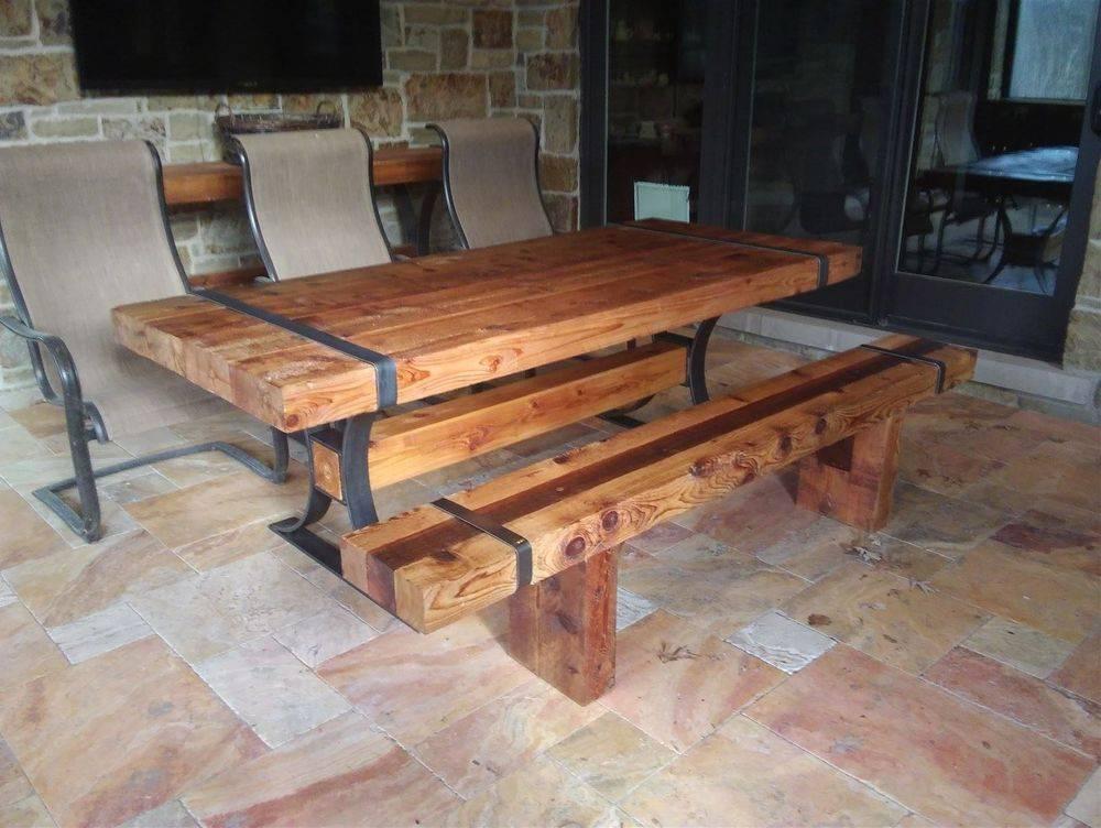 Cedar beam table