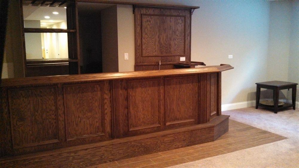 Custom oak bar